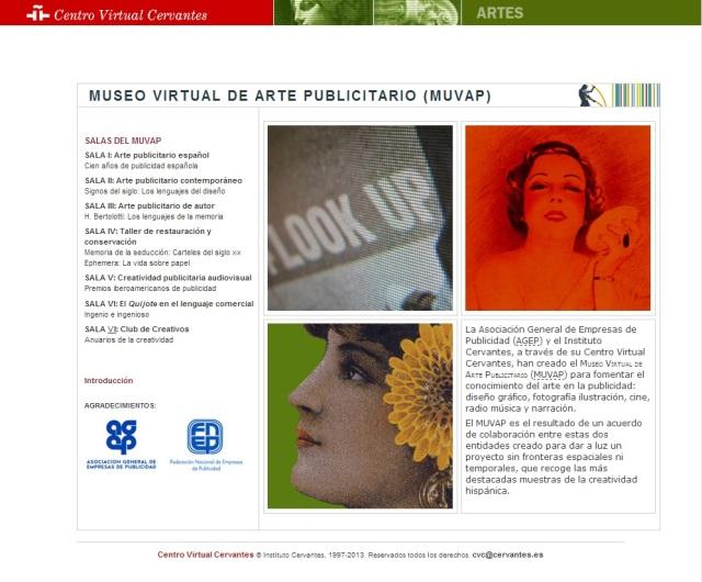 Portada del museo virtual con las diferentes salas y sus colecciones