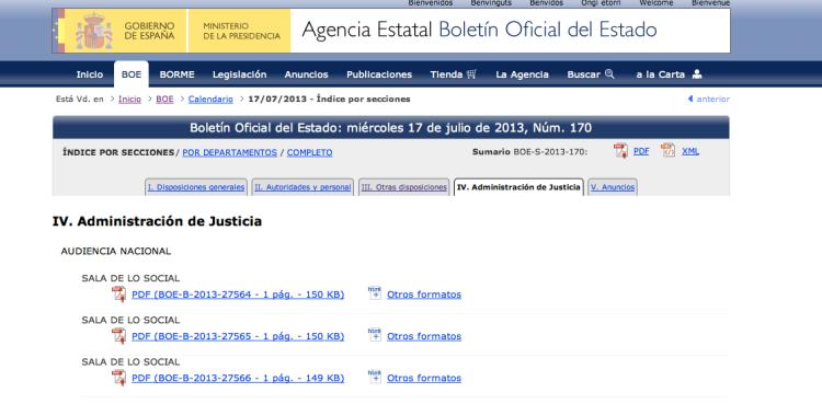 BOE online. Proceso de documentación en un bufete de abogados