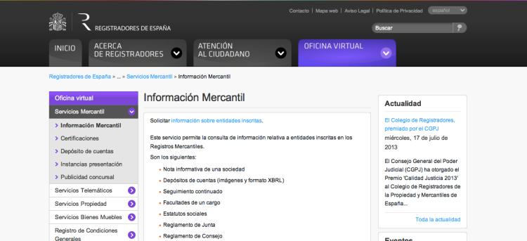 Información mercantil. Proceso de documentación en un bufete de abogados