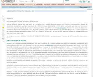 Visualización de un documento jursiprudencia