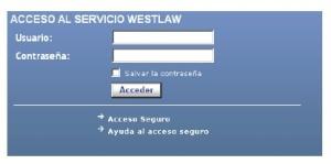 Aranzadi-Westlaw. Acceso
