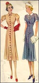 Figurines de moda. Finales años 30