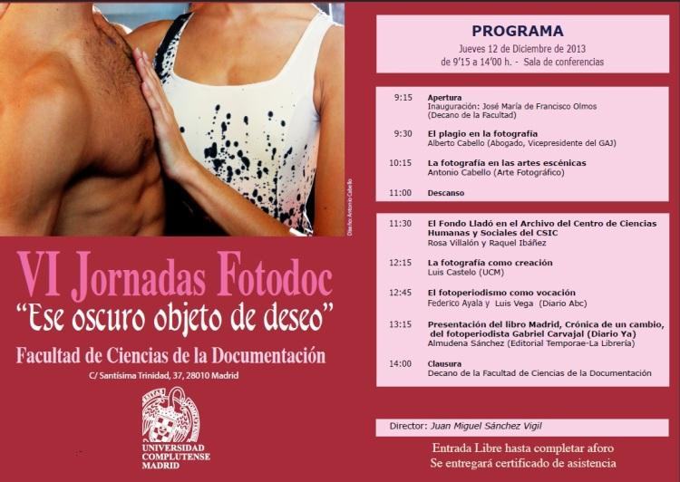 Programa de las Jornadas Fotodoc