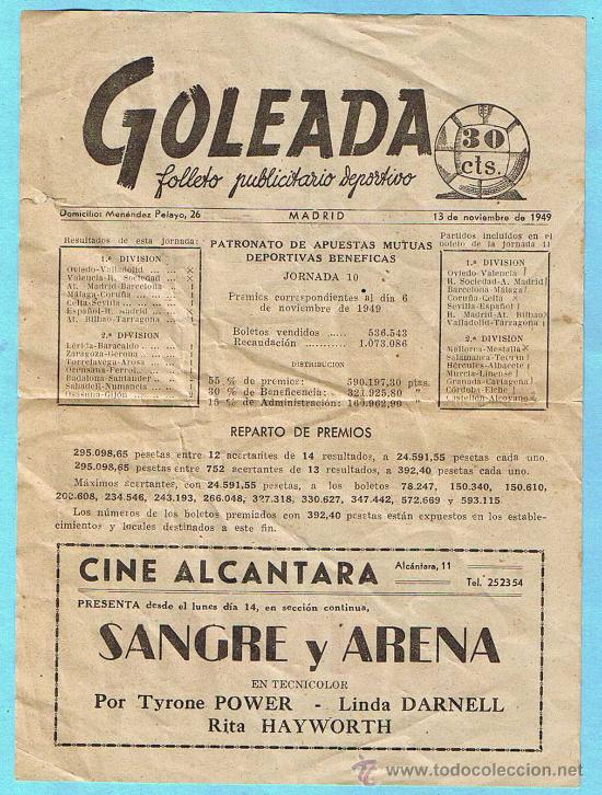 Goleada. Madrid, 1949.