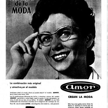 Anuncio de gafas en La Vanguardia