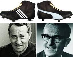 Botas Adidas y Puma de Adolf  y Rudolf Dassler, respectivamente