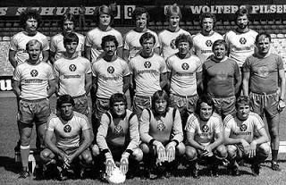 El equipo Eintrach Braunschweig estrenando patrocinador en su camiseta en 1973