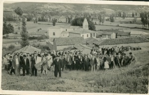 Fiesta del Corazón de Jesús en el Canterico Verde en Ambasaguas de Curueño [1955] Conservador doméstico: Mª Rubenita Aller Castro