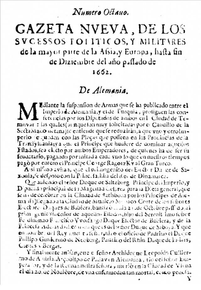 Gaceta de Madrid. 1662.