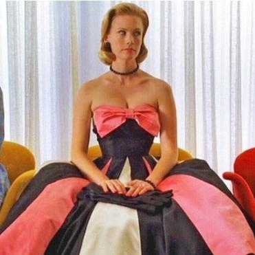 Imagen de Betty vestida de fiesta