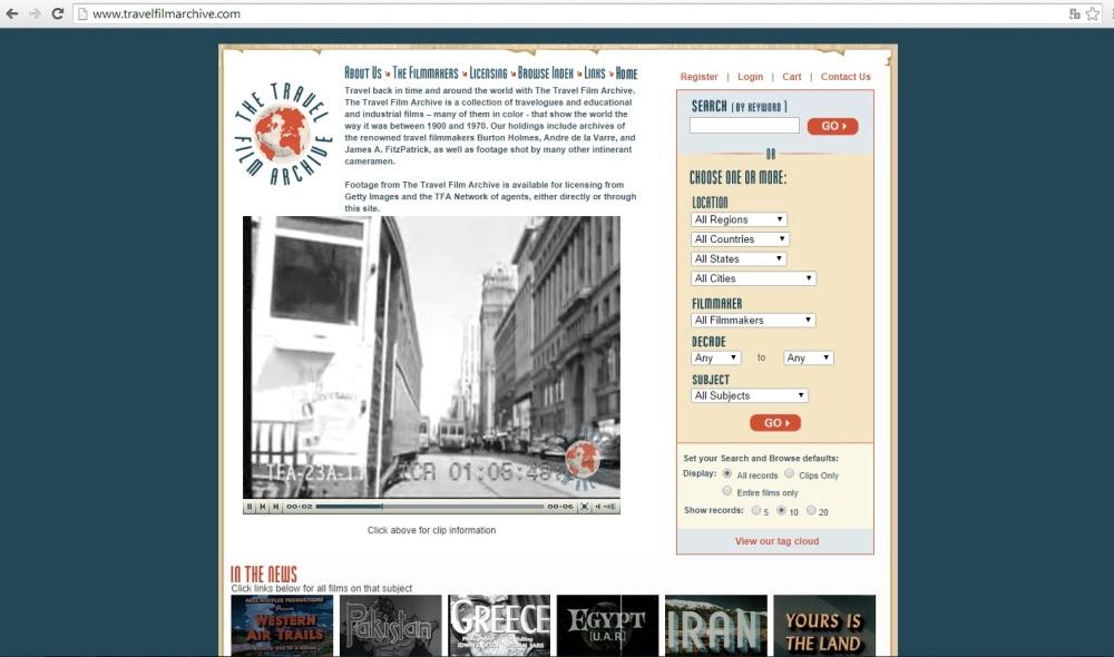 Conservación y difusión del patrimonio audiovisual, Travel Film Archive