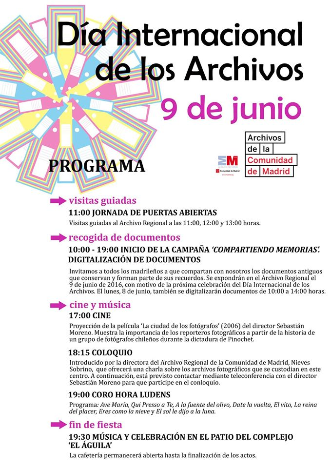 Programa del Archivo Regional de la Comunidad de Madrid