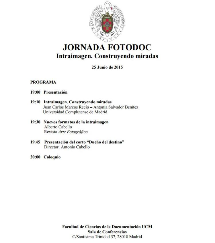 Programa Jornada Fotodoc