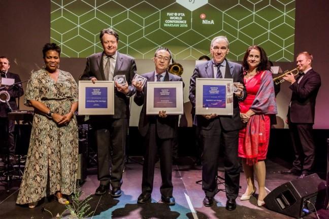 The winners of the 2016 FIAT/IFTA Archive Achievement Awards - foto: Marcin Oliva Soto